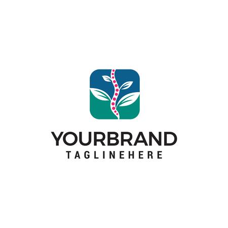 chiropractic natural logo design concept template vector