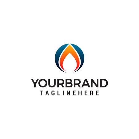 fire flame logo design concept template vector Stock Vector - 122373382