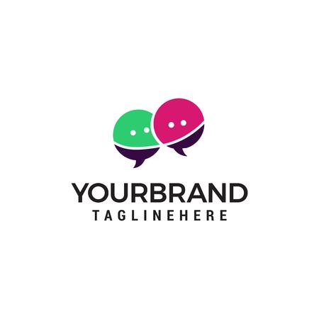 chat logo design concept template vector Illustration