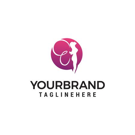 fairy logo design concept template vector Illustration