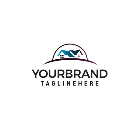 real estate logo design concept template vector