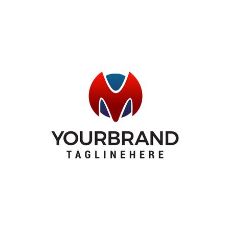 letter m logo design concept template vector Stock Illustratie