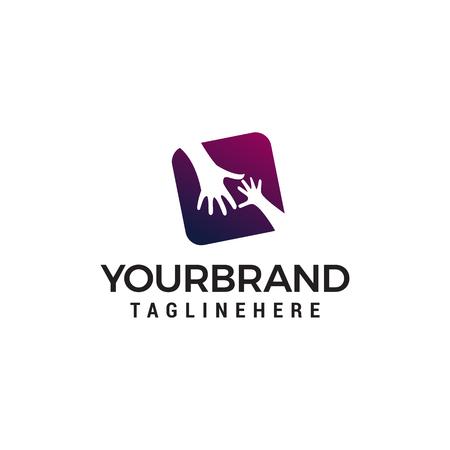 hand care logo design concept template vector