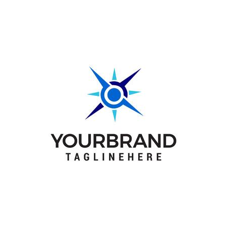 vector de plantilla de concepto de diseño de logotipo de brújula