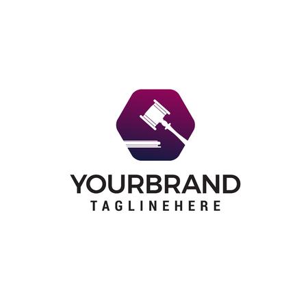Anwälte Logo Design Konzept Vorlage Vektor