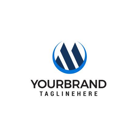 letter m logo design concept template vector  イラスト・ベクター素材