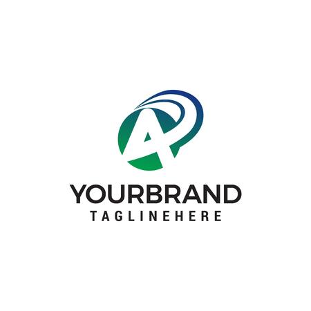 letter a fast logo design concept template vector