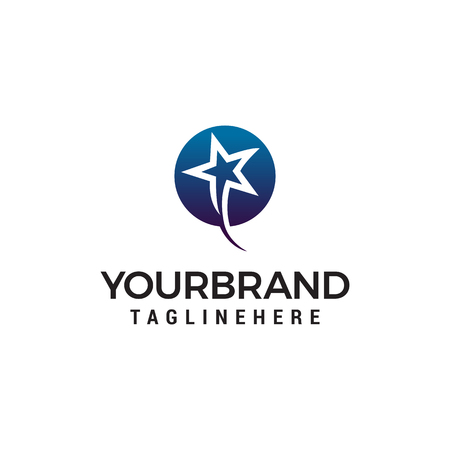 faster stars logo design concept template vector Çizim