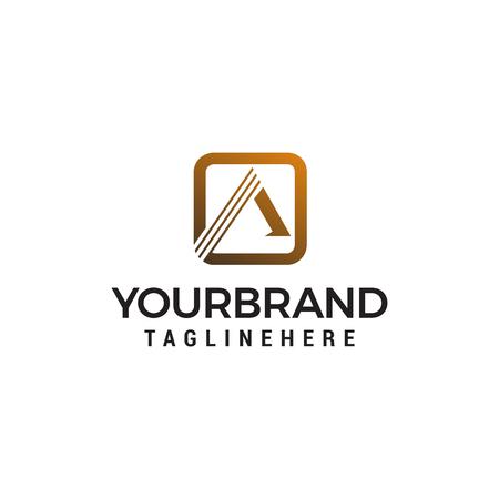 letter a brush logo design concept template vector