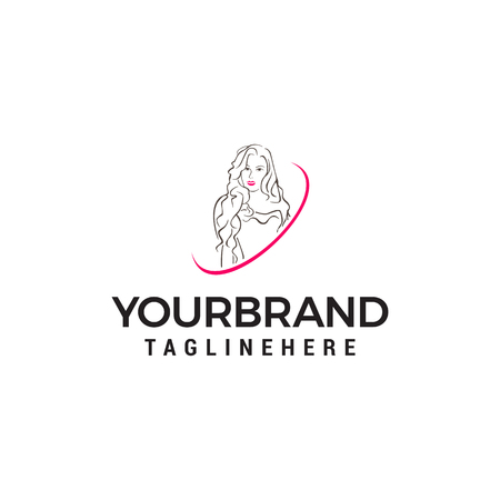 beauty women logo design concept template vector