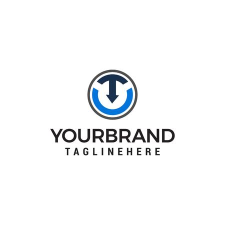 letter t arrow logo design concept template vector ЛОГОТИПЫ