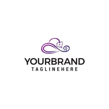women hat logo design concept template vector