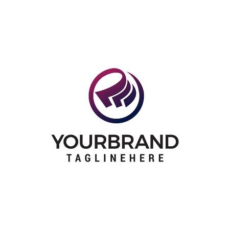 Vettore del modello di concetto di design del logo in contanti Logo