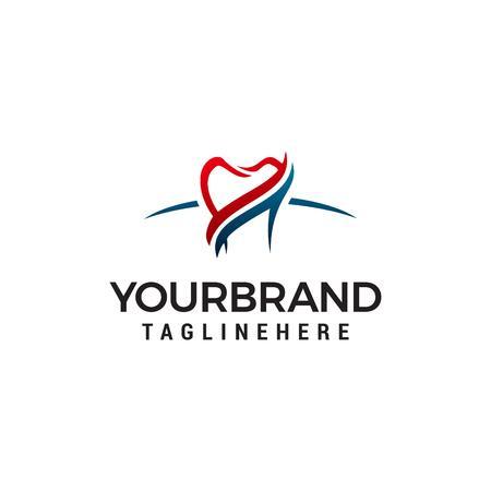dental care logo design concept template vector Ilustracja