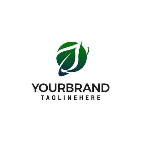 leaf logo design concept template vector