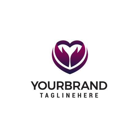 heart arrow logo design concept template vector Banco de Imagens - 123319191