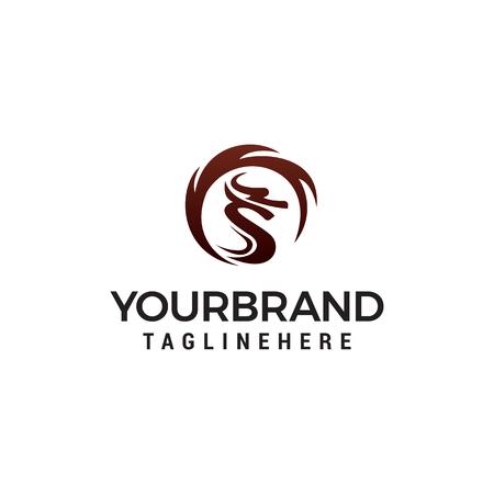 Dragon Logo Template. design concept template vector