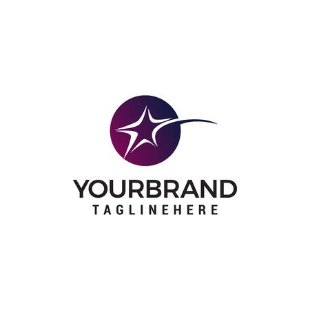 star fast circle logo design concept template vector