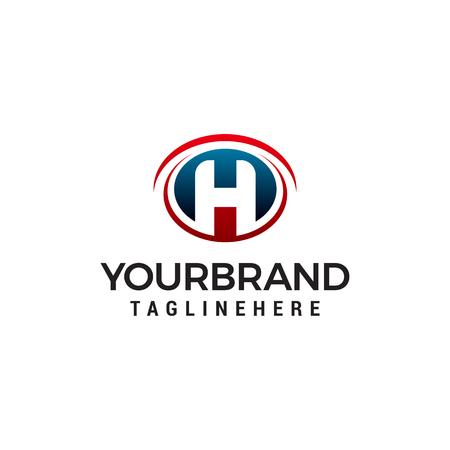 letter h logo design concept template vector Ilustração