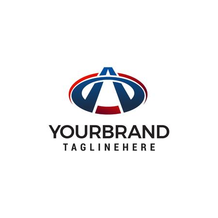 letter a logo design concept template vector