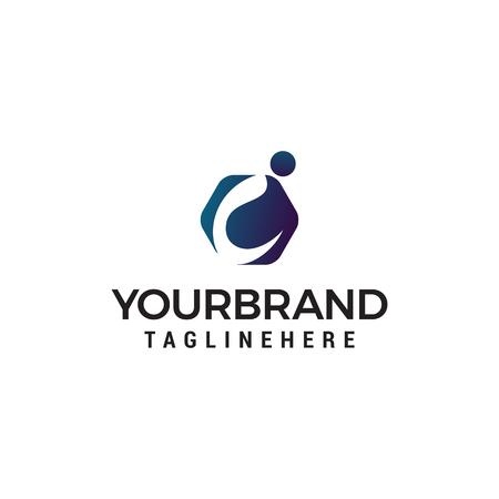 letter i logo design concept template vector Illustration