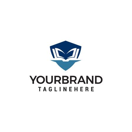 education shiled logo design concept template vector