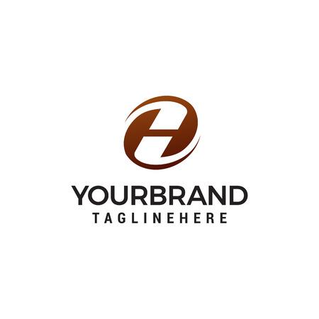 letter h logo design concept template vector Reklamní fotografie - 123318667