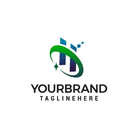 letter h technology logo design concept template vector