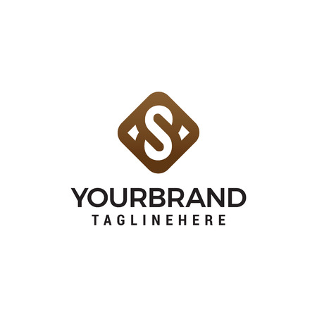 luxury initial letter S Symbol Logo Template