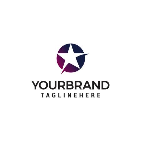 star logo design concept template vector