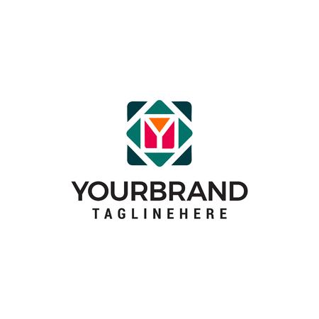 letter y cube logo design concept template vector Ilustração