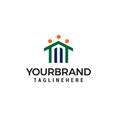 home healty logo design concept template vector Ilustração