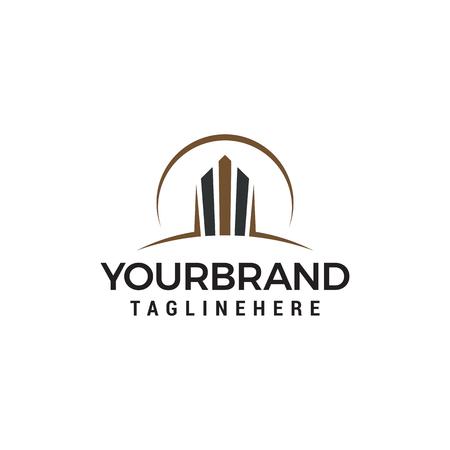 Gebäude-Logo-Design-Konzept-Vorlage-Vektor Logo