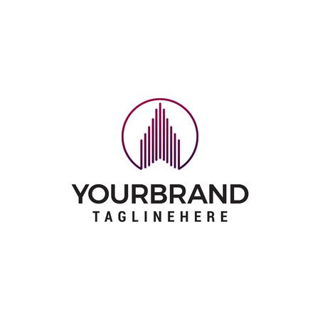 vecteur de modèle de concept de conception de logo immobilier