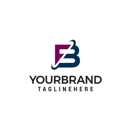 lettre fb société logo design concept template vecteur