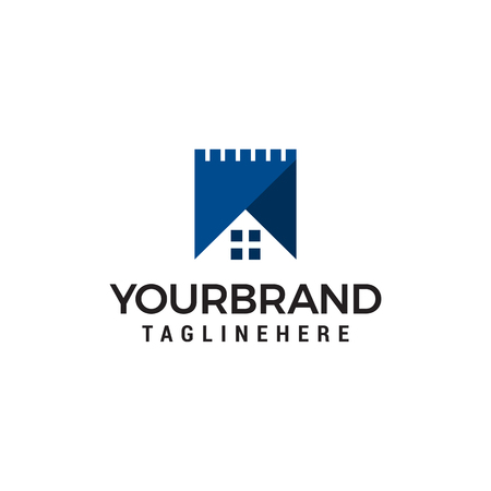 fortress logo design concept template vector