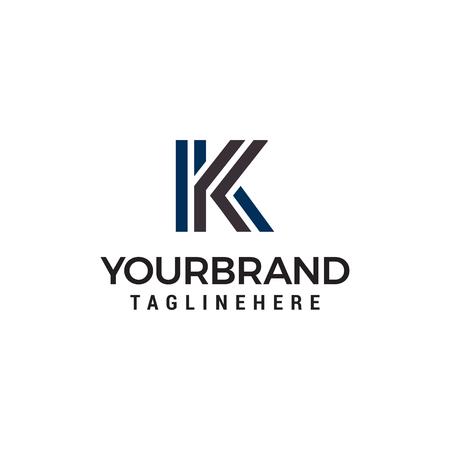 letter k tecnology logo design concept template vector