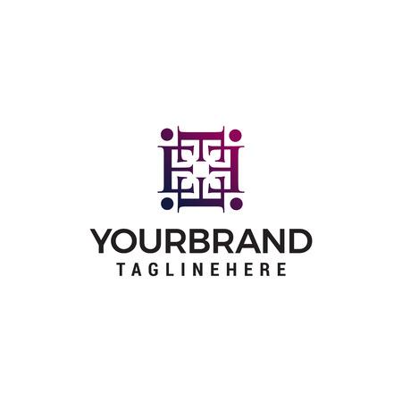 letter e decoration logo design concept template vector
