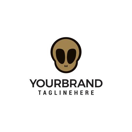 skull logo in trendy flat style design concept template vector Ilustração
