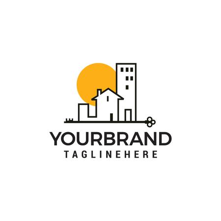 Buildings Logo minimalist logo design concept template vector