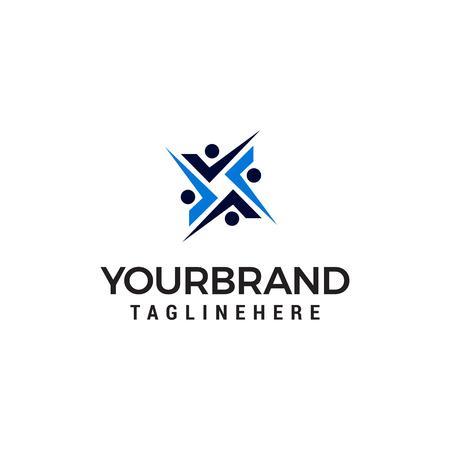 human sosial logo design concept template vector