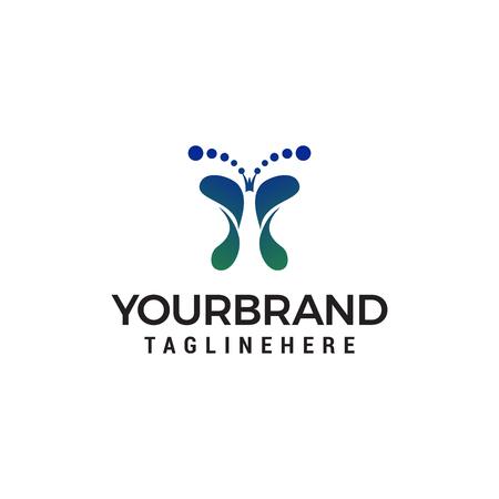 Fußbad Logo Design Konzept Vorlage Vektor concept