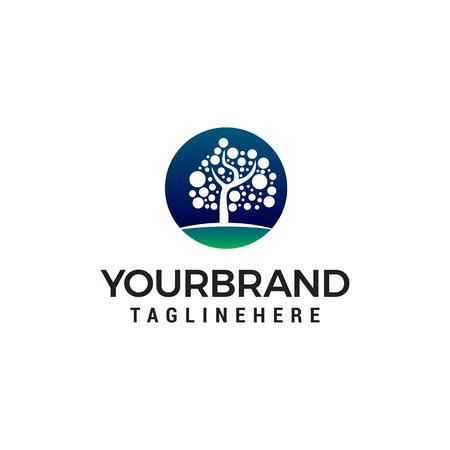 tree dot logo design concept template vector