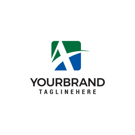 letter A logo design concept template vector Ilustração