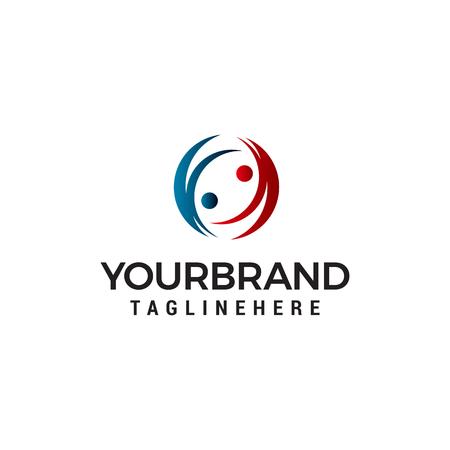 people comunication logo design concept template vector