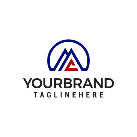 letter aa logo design concept template vector