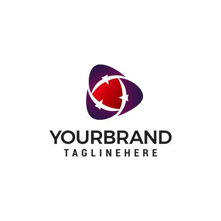 three bird abstract logo design concept template vector