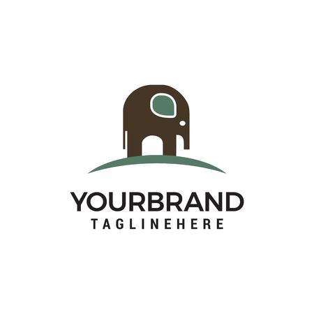 elephant logo design concept template vector