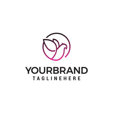 dove Elegant logo design concept template vector