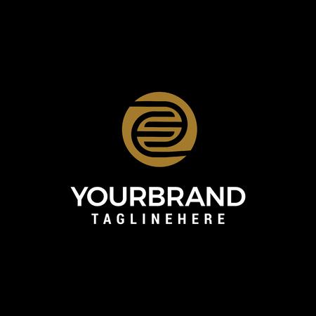 letter E capital logo design concept template vector